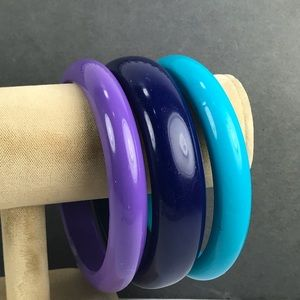 Vintage purple blue bracelet stack Lot